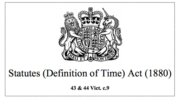 Statutes Definition of Time Act